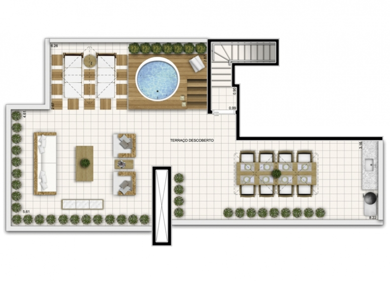 Duplex Superior 4 Dorms. 188,07m² - perspectiva ilustrada - Fatto Exclusive Morumbi