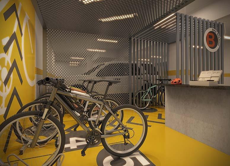 Bikesharing - perspectiva ilustrada
