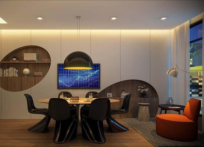 Home Office - perspectiva ilustrada