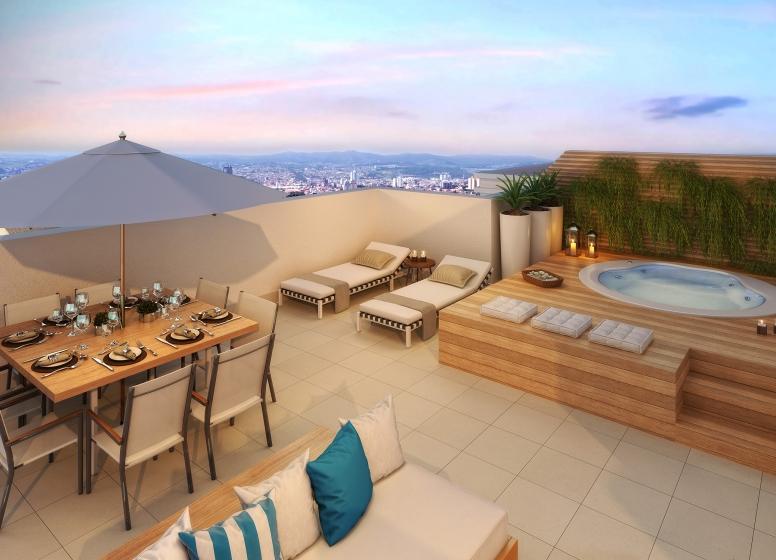 Terraço Duplex 3 dorms. - 116,80m² - perspectiva ilustrada