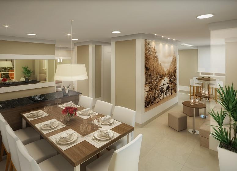 Salão de Festas Gourmet - perspectiva ilustrada