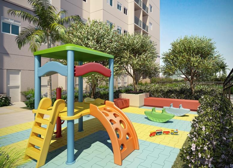 Playground - perspectiva ilustrada