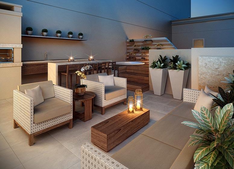 Terraço Duplex - perspectiva ilustrada