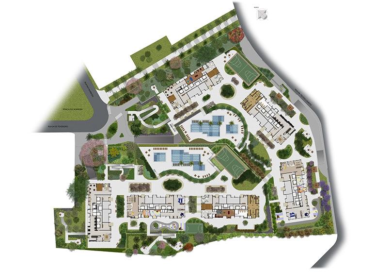 Implantação acesso (perspectiva ilustrada) - Start São Bernardo