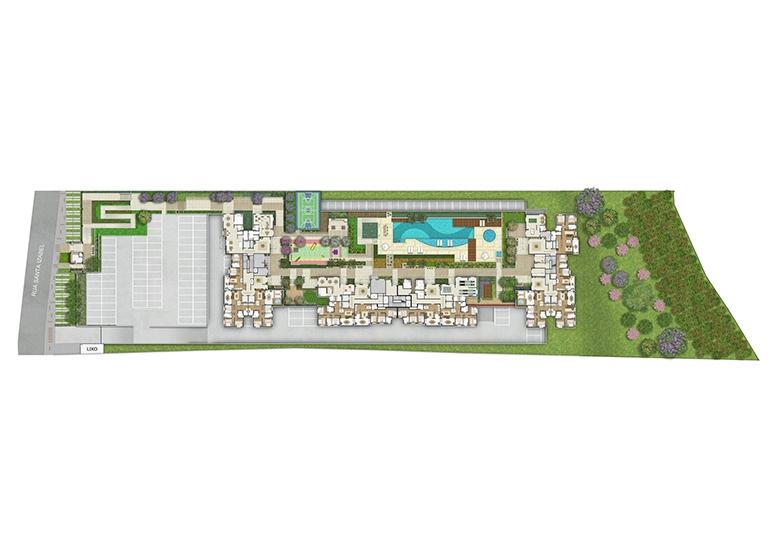 Implantação - perspectiva ilustrada - Fatto Quality Vila Augusta