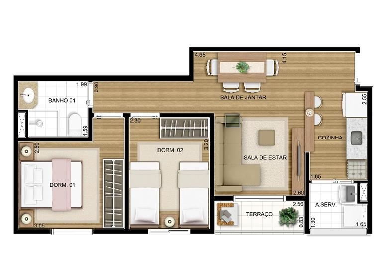 Extremamente Apartamento na Vila Augusta em Guarulhos | Fatto Passion Vila  VO23