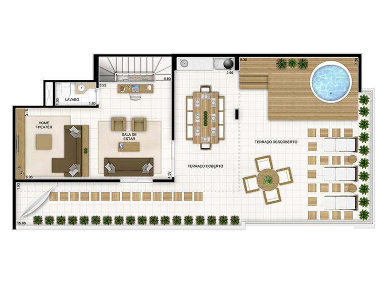 Duplex Superior 236,22m² - Quartier Lagoa Nova