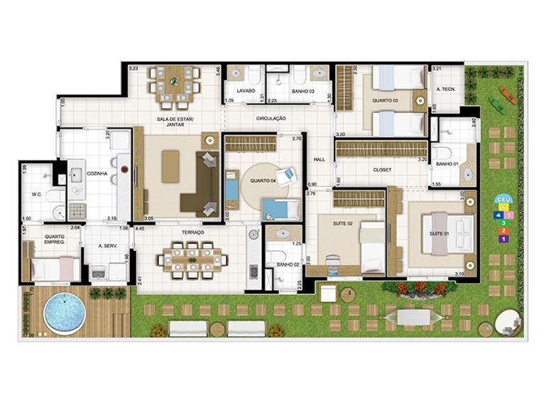 Maison 166,98m² - Quartier Lagoa Nova