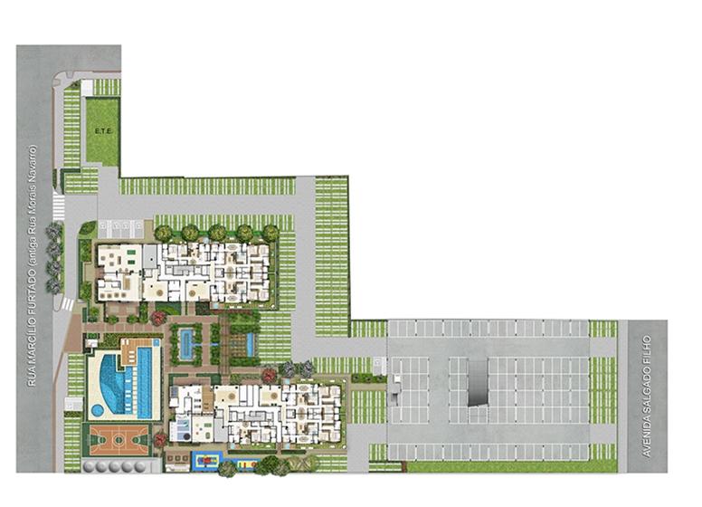 Implantação - Quartier Lagoa Nova