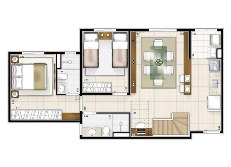 Duplex Inferior 2 dorms. 115m²