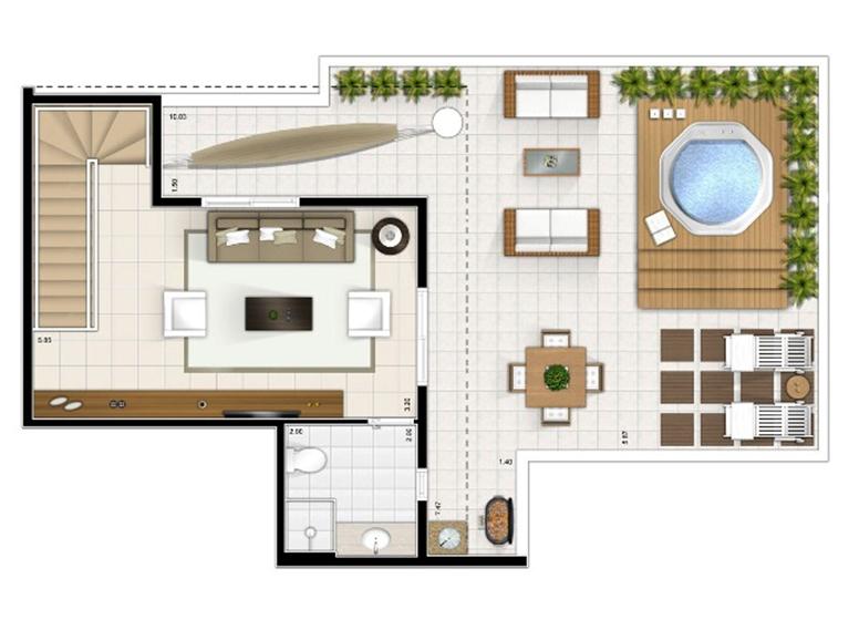 Duplex Superior 3 dorms. 151m²