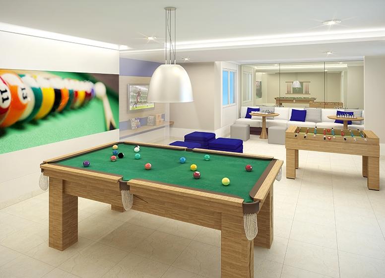 Salão de Jogos - perspectiva ilustrada