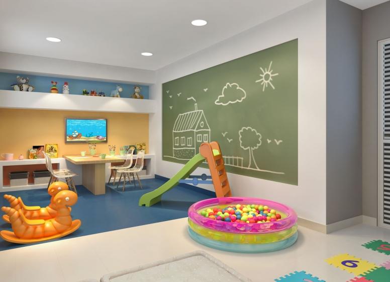 Brinquedoteca - perspectiva ilustrada - Plano&Vila Prudente