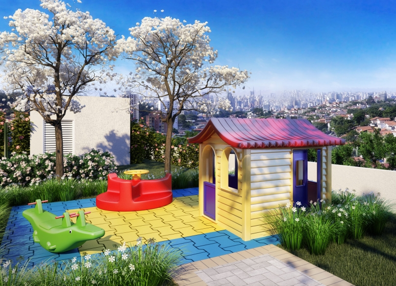 Playground - perspectiva ilustrada - Plano&Vila Prudente