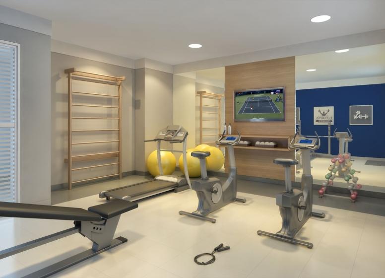 Fitness - perspectiva ilustrada - Plano&Vila Prudente
