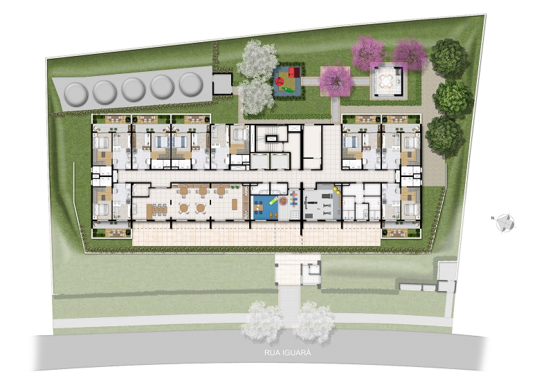 Implantação - perspectiva ilustrada - Plano&Vila Prudente
