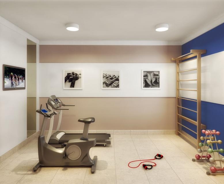 Fitness - perspectiva ilustrada - Plano&Jardim Sul