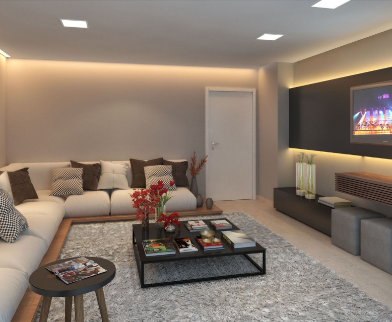 Lounge Cinema - perspectiva ilustrada