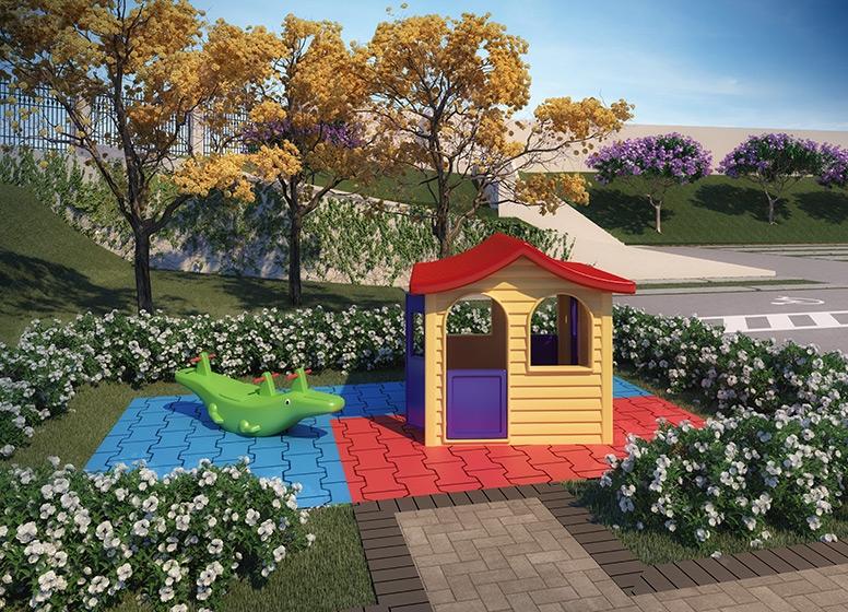 Playground - perspectiva ilustrada - Plano&Parque São Vicente
