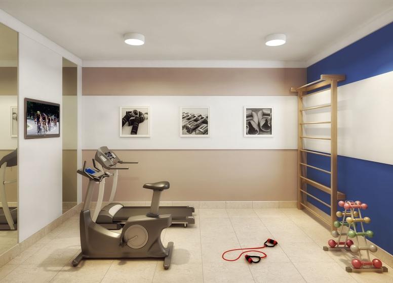 Fitness - perspectiva ilustrada - Plano&Estação Itaquera - Lagoa do Campelo II
