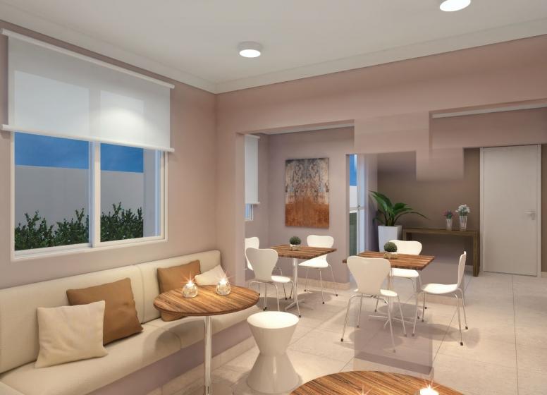 Salão de festas - perspectiva ilustrada - Plano&Cursino Ourives I