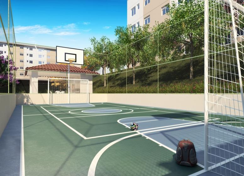 Quadra recreativa - Perspectiva Ilustrada - Hasegawa I