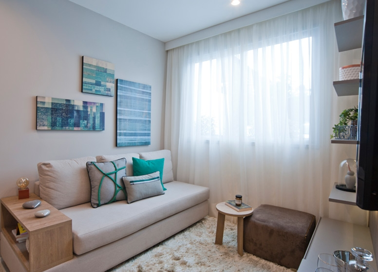 Living 41 m² - Plano&Raposo
