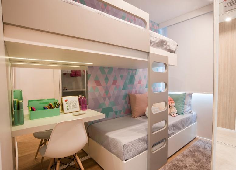 Dormitório 1 - 41 m²   - Plano&Raposo