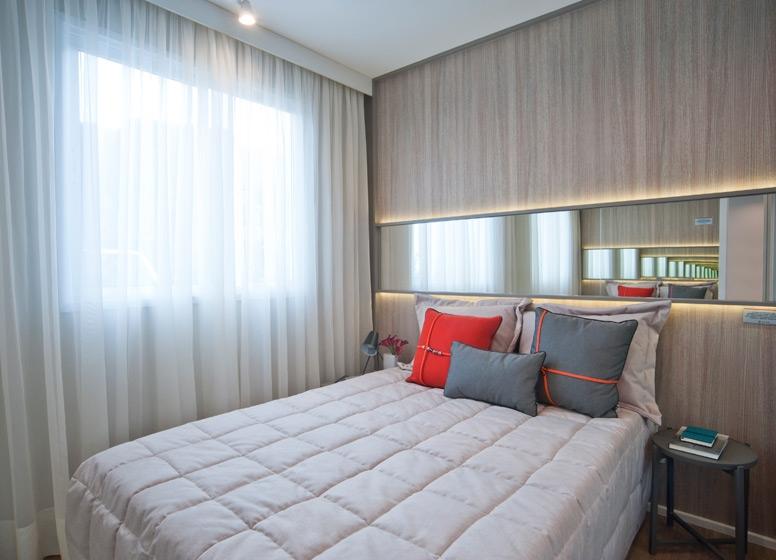 Dormitório 2 - 41 m²   - Plano&Raposo
