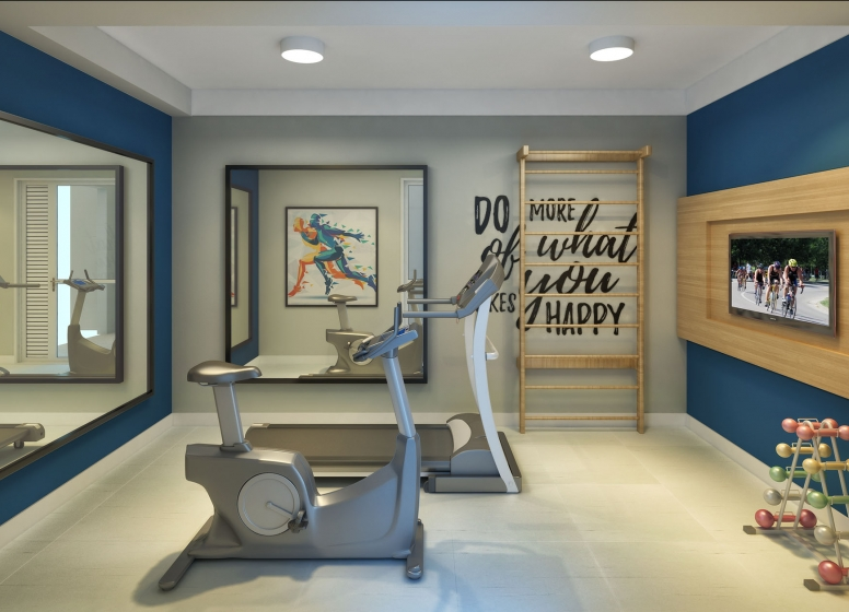 Fitness - perspectiva ilustrada - Augusto Carlos Bauman