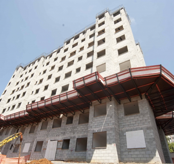 Área externa - fachada (Torre B)