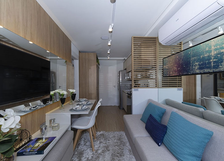 Living 28 m² - Plano&Estação Vila Sônia