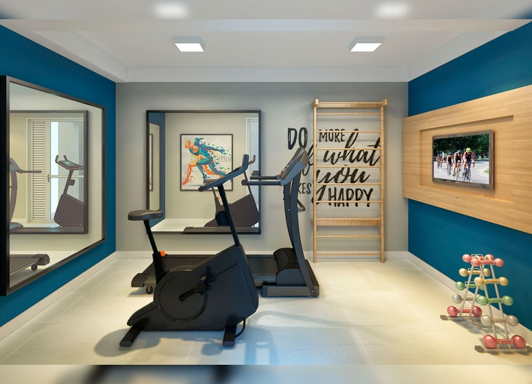 Sala de Ginastica - Perspectiva Ilustrada - Manuel Leiroz III