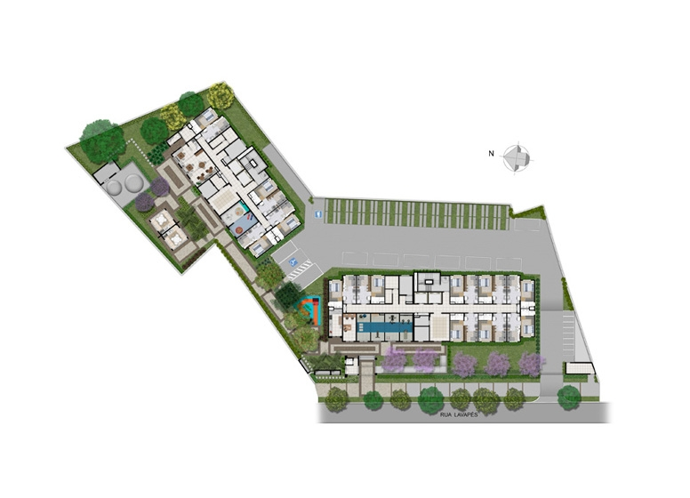 Implantação - perspectiva ilustrada - Plano&Reserva do Cambuci