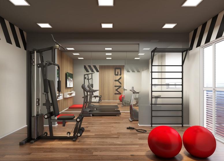Fitness - perspectiva ilustrada - Plano&Reserva da Vila