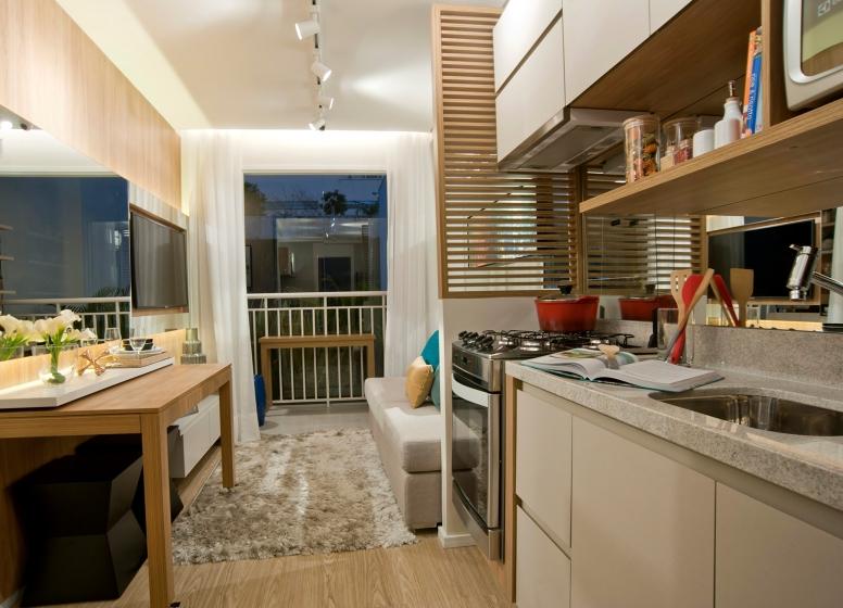 Cozinha e Living - 32 m² - Galeria 635