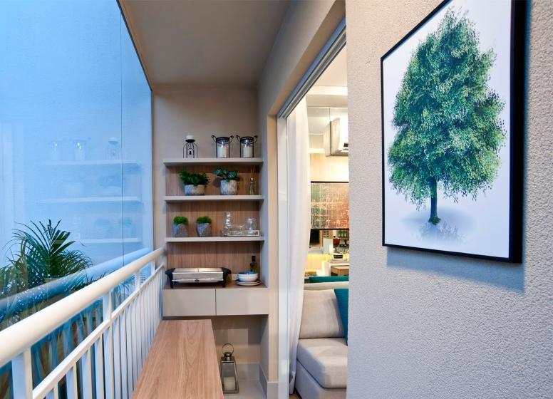 Varanda living - 32 m² - Plano&Bairro do Limão