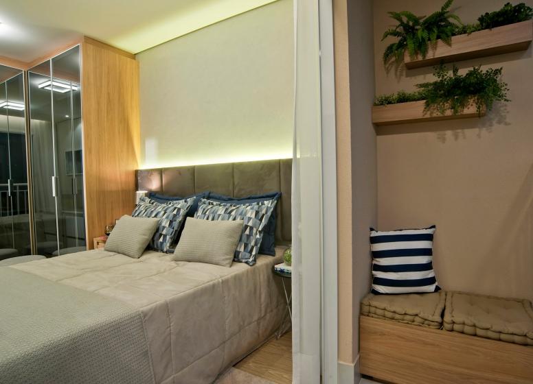 Varanda dormitório - 32 m² - Plano&Bairro do Limão