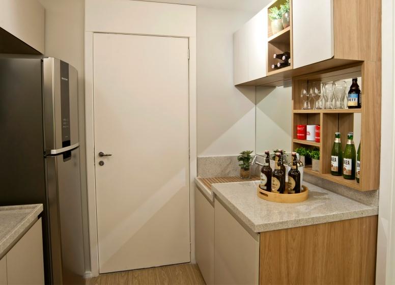 Lavanderia e Cozinha - 32 m² - Plano&Bairro do Limão
