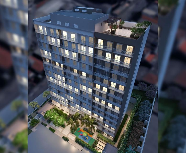 Fachada - Torre A - Perspetiva Ilustrada - Plano&Reserva Casa Verde