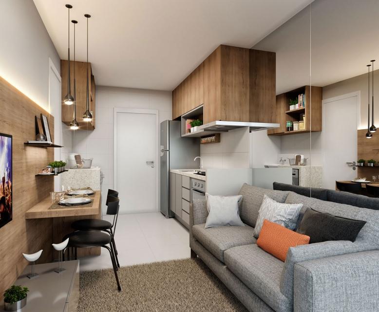 Living - Torre A - Perspetiva Ilustrada - Plano&Reserva Casa Verde