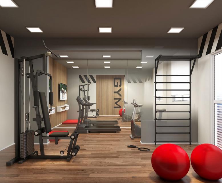 Fitness - Perspetiva Ilustrada - Plano&Reserva Casa Verde
