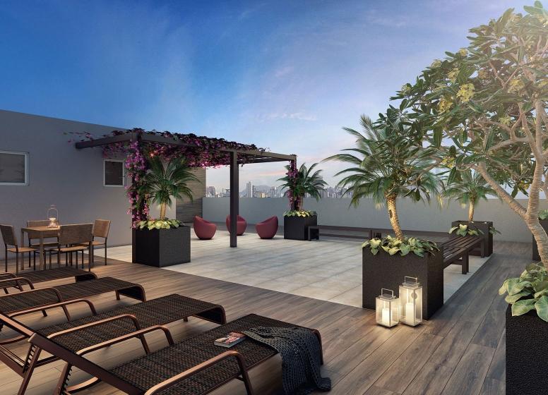 Rooftop - Perspetiva Ilustrada - Plano&Reserva Casa Verde
