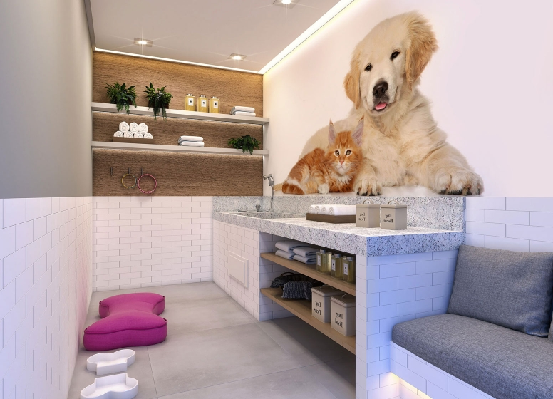 Pet Care - Perspectiva ilustrada - Plano&Reserva Casa Verde