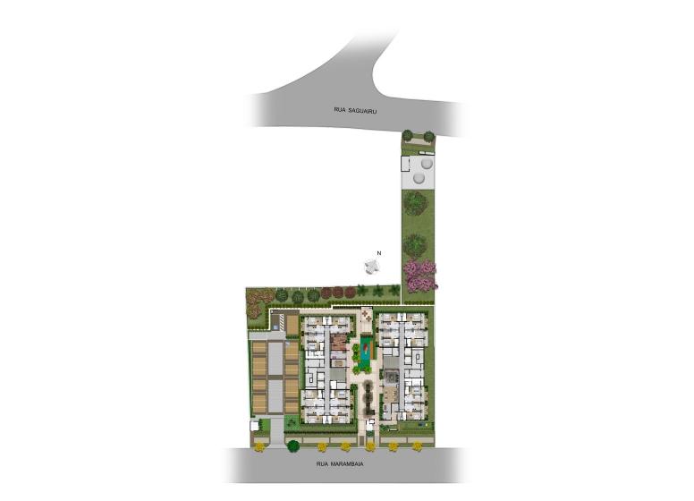 Implantação - perspectiva ilustrada - Plano&Reserva Casa Verde