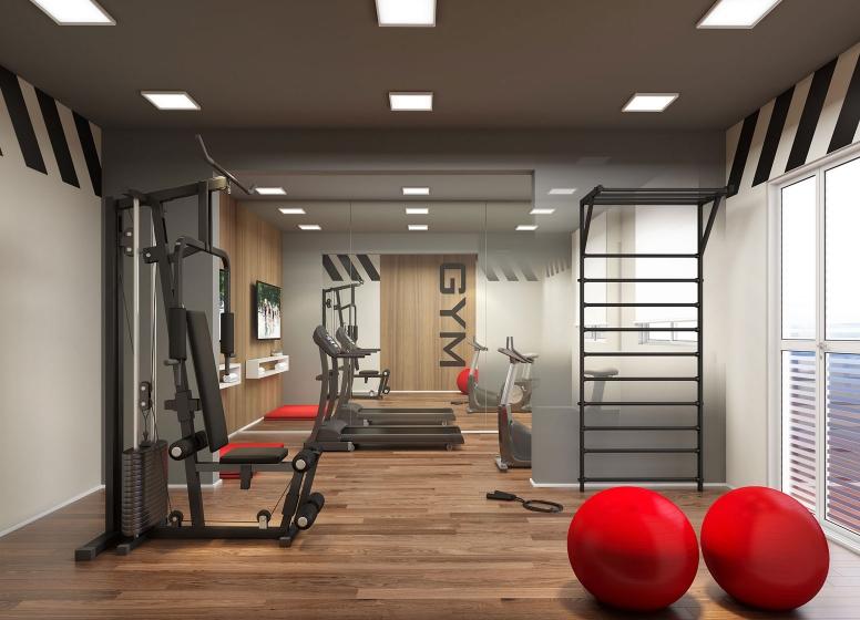 Fitness - Perspectiva ilustrada - Plano&Reserva Casa Verde