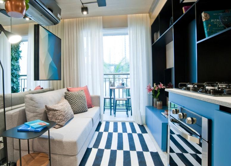 Cozinha com Living - 26 m² - Laguna 430