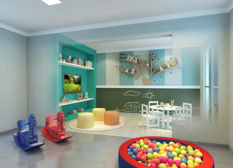 Brinquedoteca - Perspectiva Ilustrada - Plano&Jardim Planalto