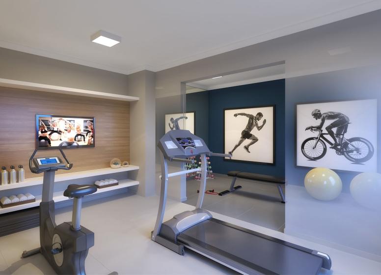 Fitness - perspectiva ilustrada - Plano&Florada Ipê