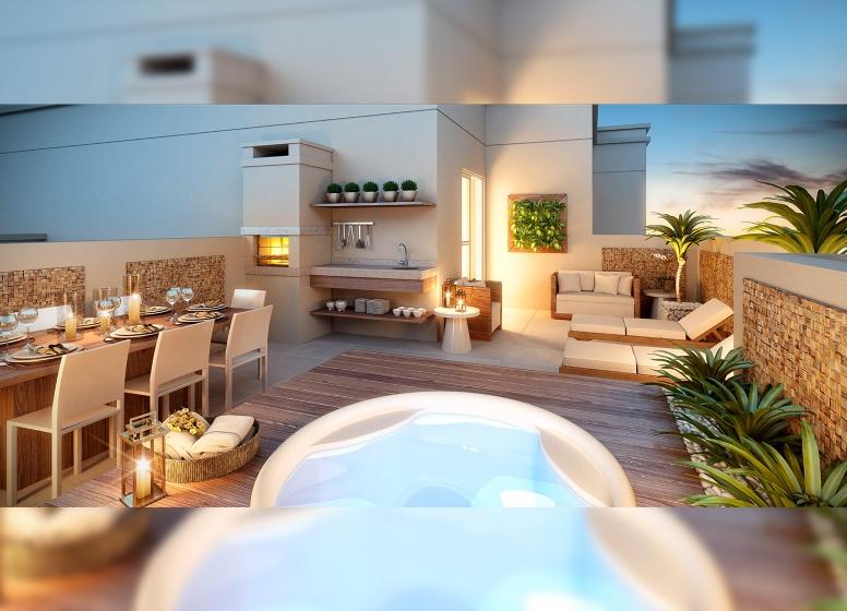 Terraço Duplex - 3 dorms - Perspetiva Ilustrada - Fatto Torres de São José - fase 2
